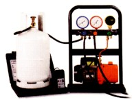 CPS mobile refrigerant gas charging frame.