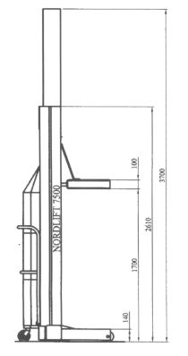 NordLift Column Lift schematic diagram.