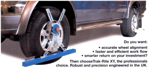 trak-rite XY laser wheel alingment gauge